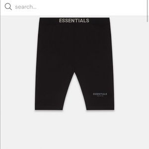 BNWT FOG Essentials womenshorts S Fear of God